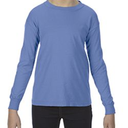 Youth 5.4 oz. Garment-Dyed Long-Sleeve T-Shirt Thumbnail