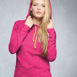 Women's Lightweight Long Sleeve Hooded T-Shirt Thumbnail