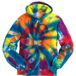 Rainbow Multi-Color Cut-Spiral Hooded Sweatshirt Thumbnail