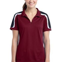 Ladies Tricolor Shoulder Micropique Sport Wick ® Polo Thumbnail