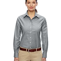 Ladies' Long-Sleeve Oxford with Stain-Release Thumbnail