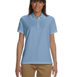 Ladies' Pima Piqué Short-Sleeve Tipped Polo Thumbnail