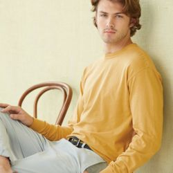 Garment Dyed Heavyweight Ringspun Long Sleeve T-Shirt Thumbnail