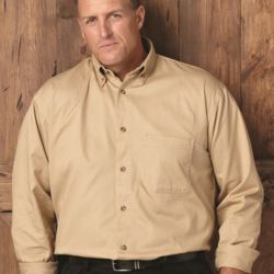 Long Sleeve Cotton Twill Shirt Tall Sizes Thumbnail