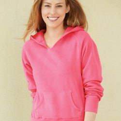 Women's Garment Dyed Ringspun Hooded Pullover Thumbnail