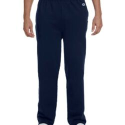 Adult 9 oz. Double Dry Eco® Open-Bottom Fleece Pant with Pockets Thumbnail