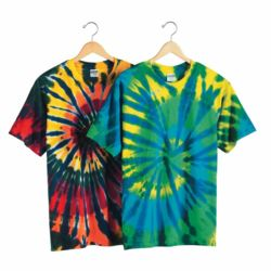 Multi-Color Cut-Spiral Short Sleeve T-Shirt Thumbnail