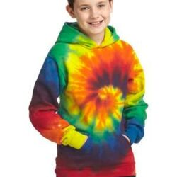 Youth Tie Dye Pullover Hooded Sweatshirt Thumbnail