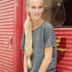 Women's Mélange Burnout The Pony T-Shirt Thumbnail