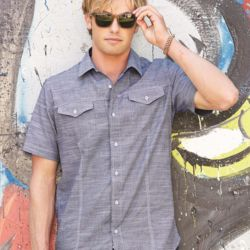 Textured Solid Short Sleeve Shirt Thumbnail