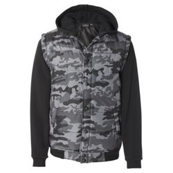 Nylon Vest with Fleece Sleeves Thumbnail