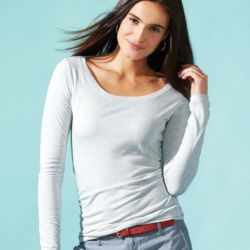 Women's Triblend Long Sleeve Scoopneck Tee Thumbnail