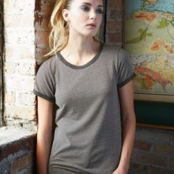Women's Eco Mock Twist Ideal Ringer Tee Thumbnail