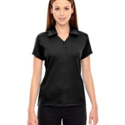 Ladies' Exhilarate Coffee Charcoal Performance Polo with Back Pocket Thumbnail