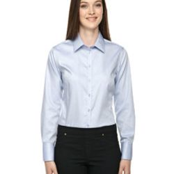 Ladies' Boulevard Wrinkle-Free Two-Ply 80's Cotton Dobby Taped Shirt with Oxford Twill Thumbnail
