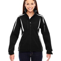 Ladies' Enzo Colorblocked Three-Layer Fleece Bonded Soft Shell Jacket Thumbnail