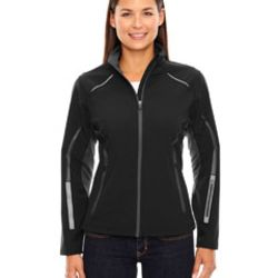 Ladies' Pursuit Three-Layer Light Bonded Hybrid Soft Shell Jacket with Laser Perforation Thumbnail