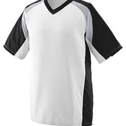 Adult Wicking Polyester V-Neck Short-Sleeve Jersey with Inserts Thumbnail