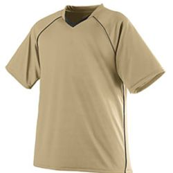 Adult Wicking Polyester V-Neck Jersey with Contrast Piping Thumbnail