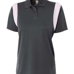 Ladies' Color Blocked Polo w/ Knit Collar Thumbnail