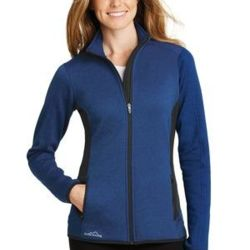 Ladies Full Zip Heather Stretch Fleece Jacket Thumbnail