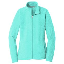 Ladies Heather Microfleece Full Zip Jacket Thumbnail