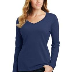 Ladies Long Sleeve Fan Favorite V Neck Tee Thumbnail