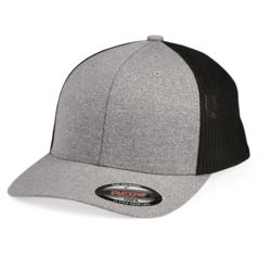 Melange Trucker Cap With Mesh Back Thumbnail