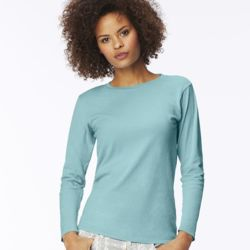 Women's Garment Dyed Ringspun Long Sleeve T-Shirt Thumbnail