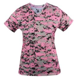 Digital Camo Women's V-neck Tee Thumbnail