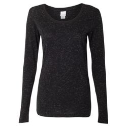 Women's Glitter Long Sleeve T-Shirt Thumbnail