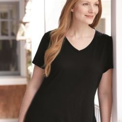 Women's Short Sleeve V-Neck Tee Thumbnail