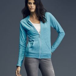 Triblend Women's Hooded Full-Zip T-Shirt Thumbnail