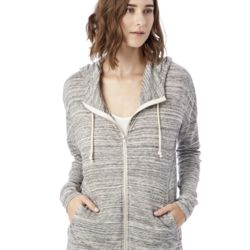 Women's Eco Jersey Cool Down Hooded Full-Zip Thumbnail