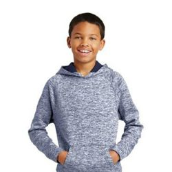 Youth PosiCharge ® Electric Heather Fleece Hooded Pullover Thumbnail