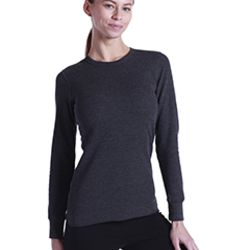 Ladies' 5.8 oz. Long-Sleeve Thermal Crewneck Thumbnail