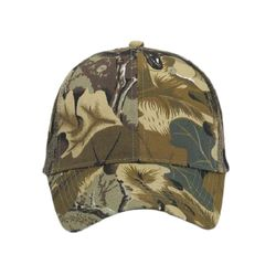 OTTO Camouflage Cotton Blend Twill Six Panel Low Profile Mesh Back Trucker Hat Thumbnail