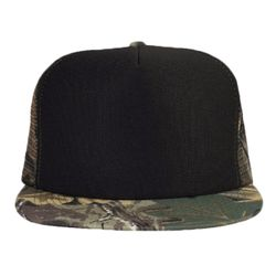 OTTO Polyester Foam Front Camouflage Cotton Twill Round Flat Visor