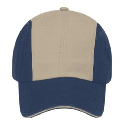 OTTO Garment Washed Superior Cotton Twill Sandwich Visor Twelve Panel Low Profile Baseball Cap Thumbnail