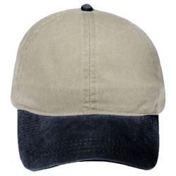 OTTO Garment Washed Pigment Dyed Cotton Twill Four Panel Ponytail Cap Thumbnail