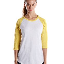 Ladies' 4.3 oz., 3/4-Sleeve Baseball Raglan Thumbnail