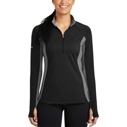 Ladies Sport Wick ® Stretch Contrast 1/2 Zip Pullover Thumbnail