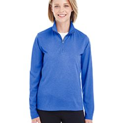 Ladies' Cool & Dry Heathered Performance Quarter-Zip Thumbnail