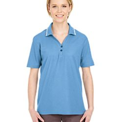 Ladies' Short-Sleeve Whisper Piqué Polo with Tipped Collar Thumbnail