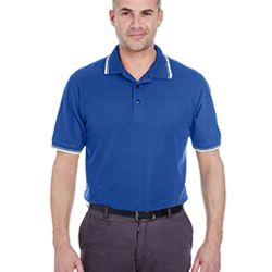 Men's Short-Sleeve Whisper Piqué Polo with Tipped Collar and Cuffs Thumbnail