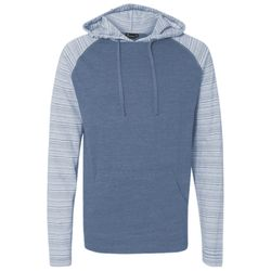 Adult Raglan Sleeve Striped Jersey Hooded T-Shirt Thumbnail