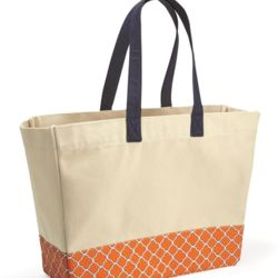 Patterned Bottom Beach Tote Thumbnail