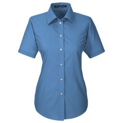 Ladies' Crown Woven Collection™ Solid Broadcloth Short-Sleeve Shirt Thumbnail