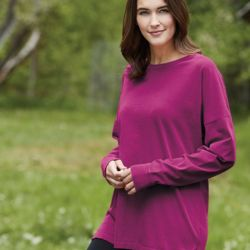 Ringspun Cotton Drop Shoulder Long Sleeve Tee Thumbnail