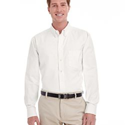 Men's  Tall Foundation 100% Cotton Long-Sleeve Twill Shirt with Teflon™ Thumbnail